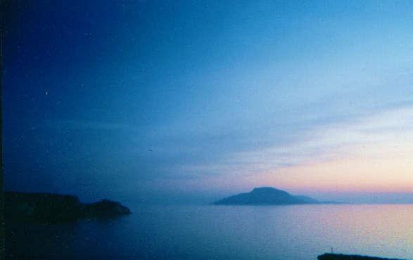 Santorin in Blau