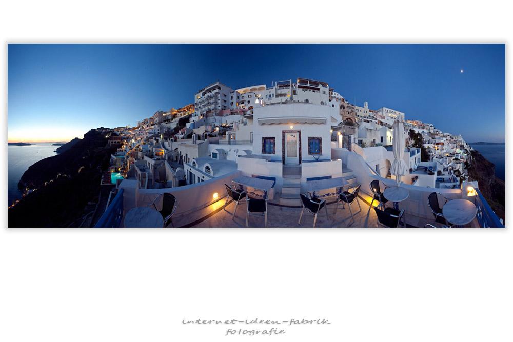 Santorini 2009 - Fira bei Nacht