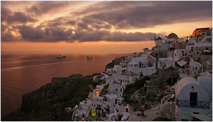 Santorini am Abend