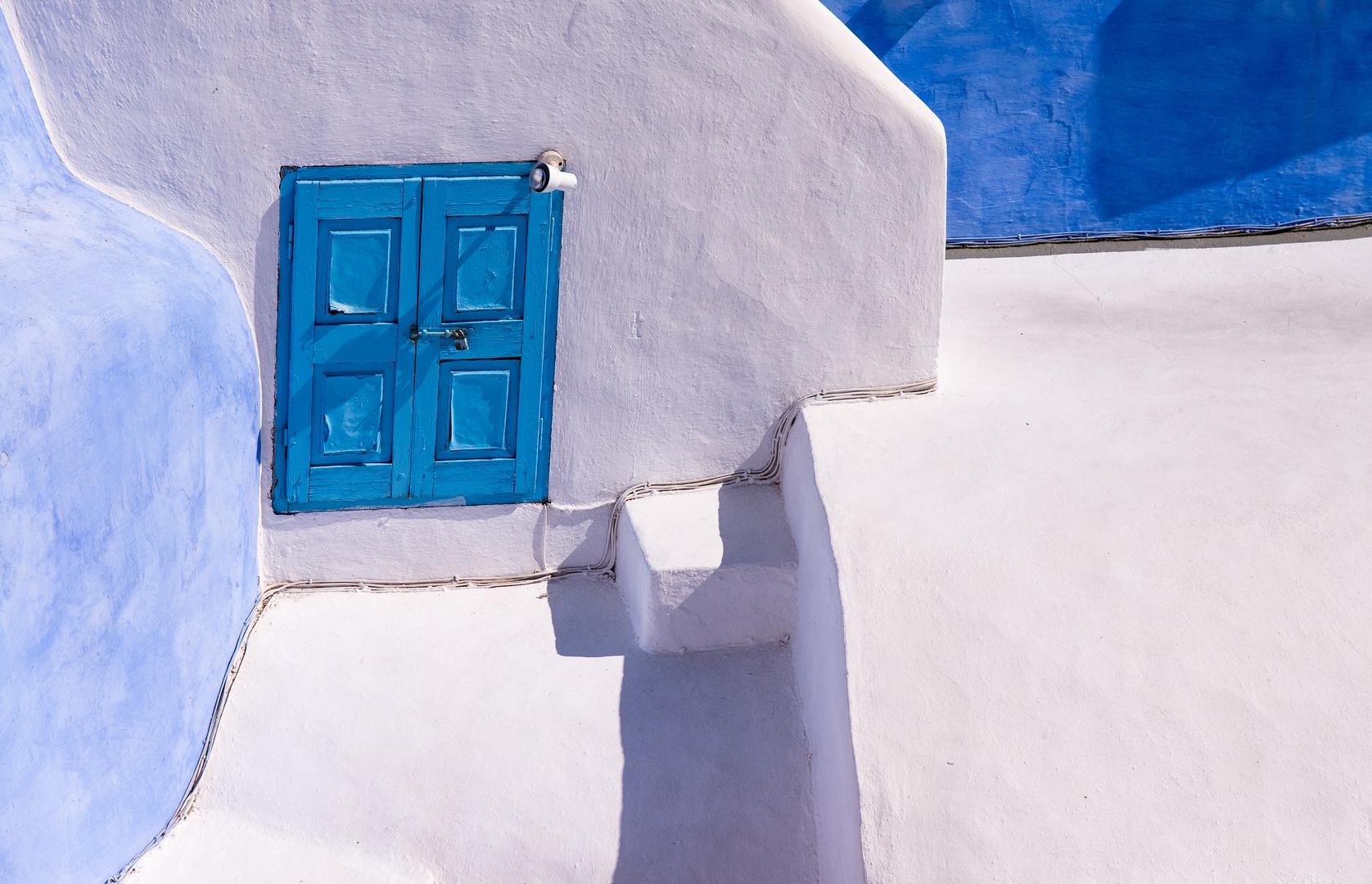 Santorini in Blau - Weiß