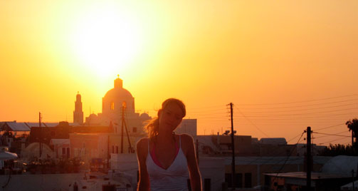 Santorini mal nicht blau-weiss