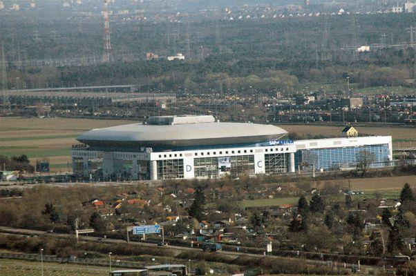 SAP - ARENA aus der sicht vom Fernsehturm Mannheim