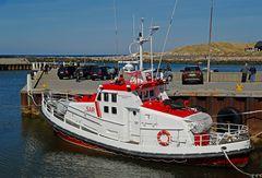 SAR Seenotkreuzer im Hafen von Thorsminde (Midtjylland, DK) an der Nordseeküste
