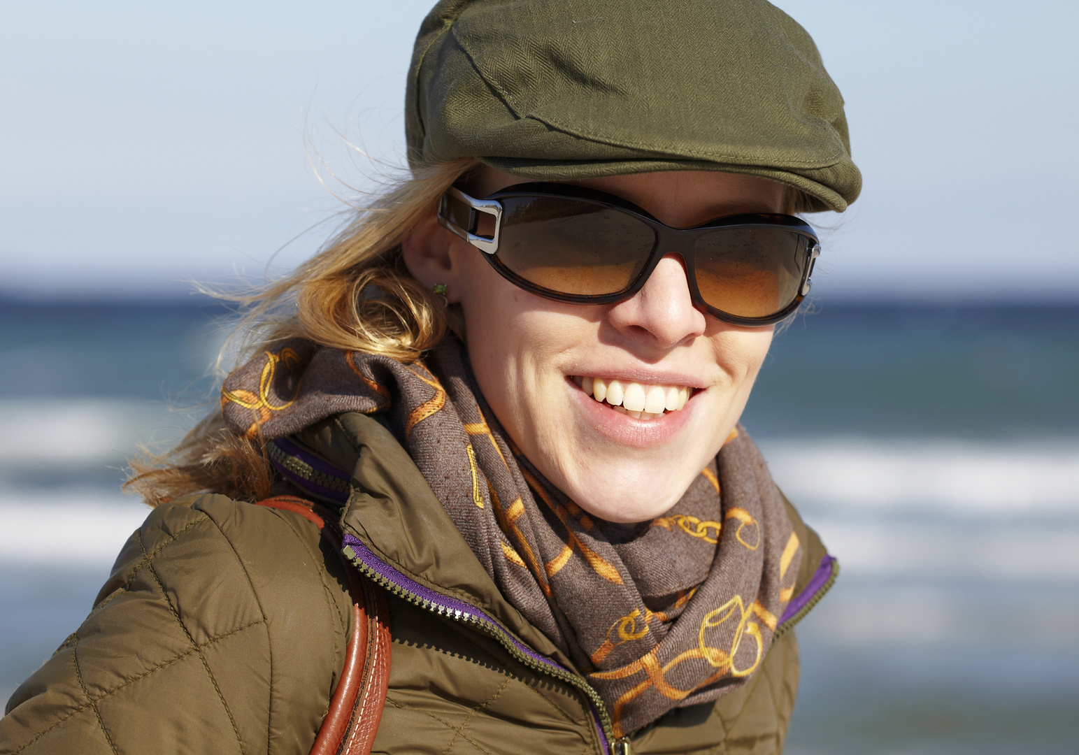 Sara am Strand