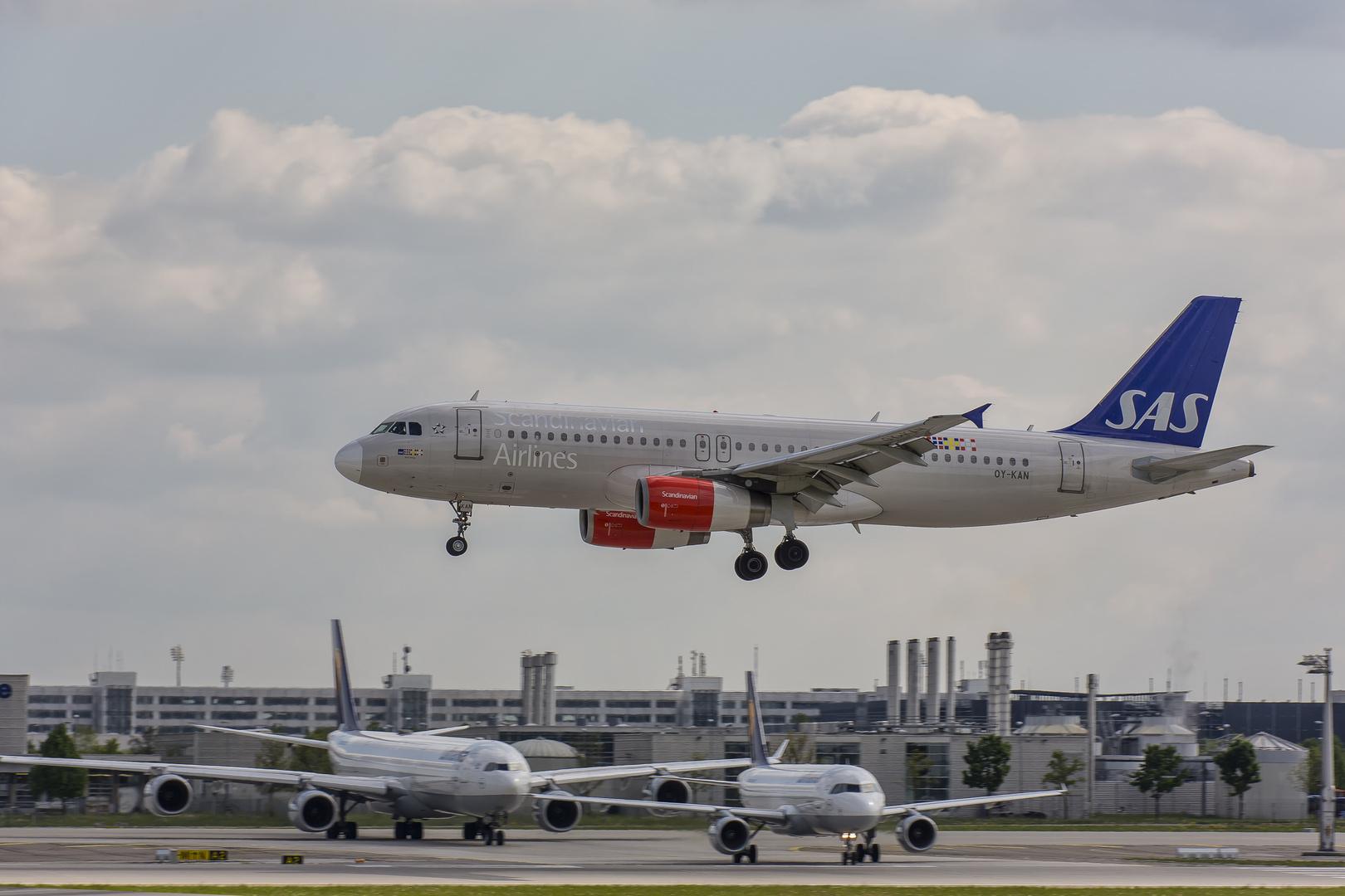 SAS im Landeanflug