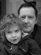 Saskia mit ihrem Papa