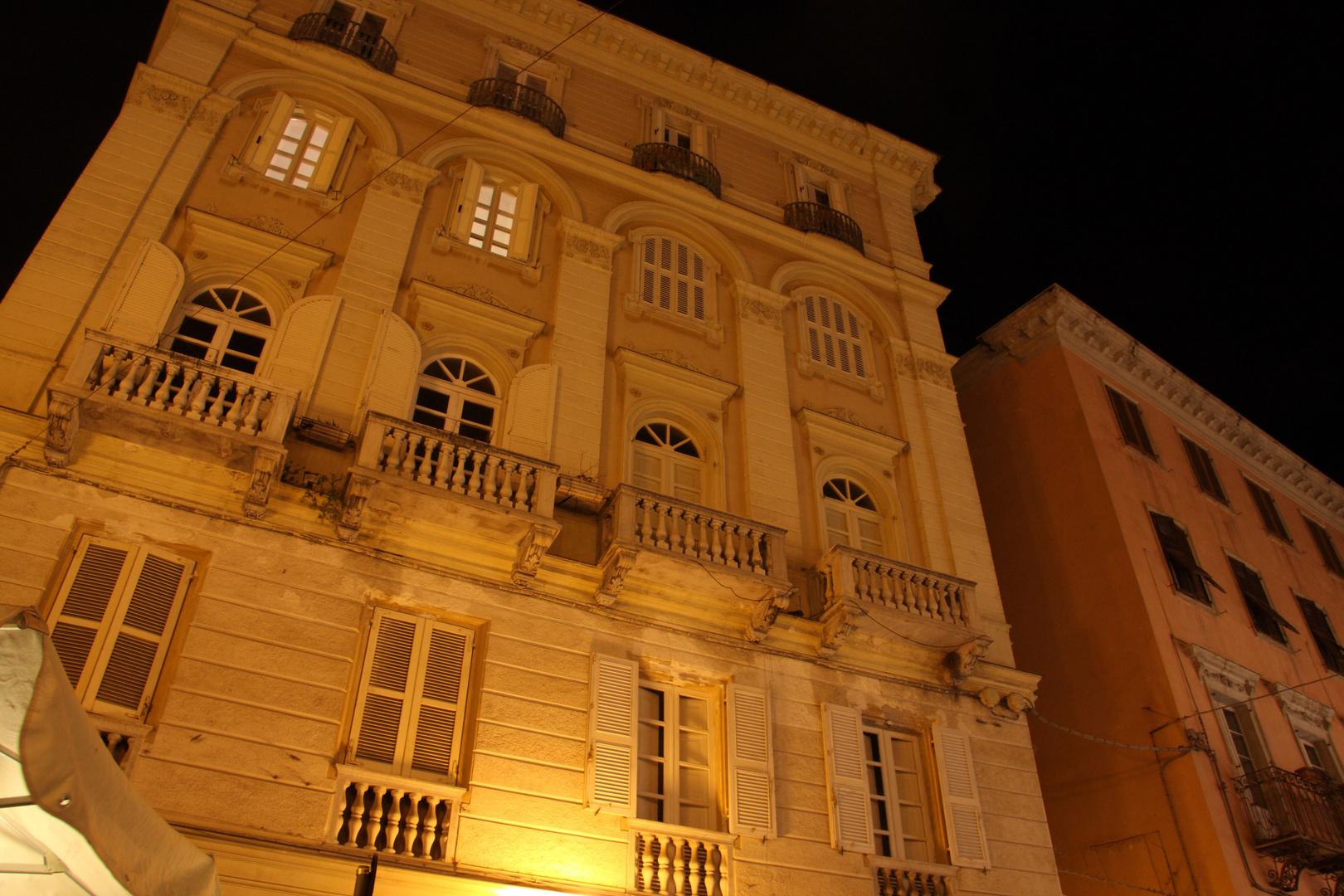 Sassari at night