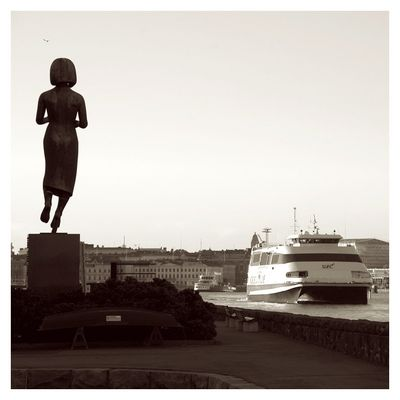 Satue in the harbour of Helsinki