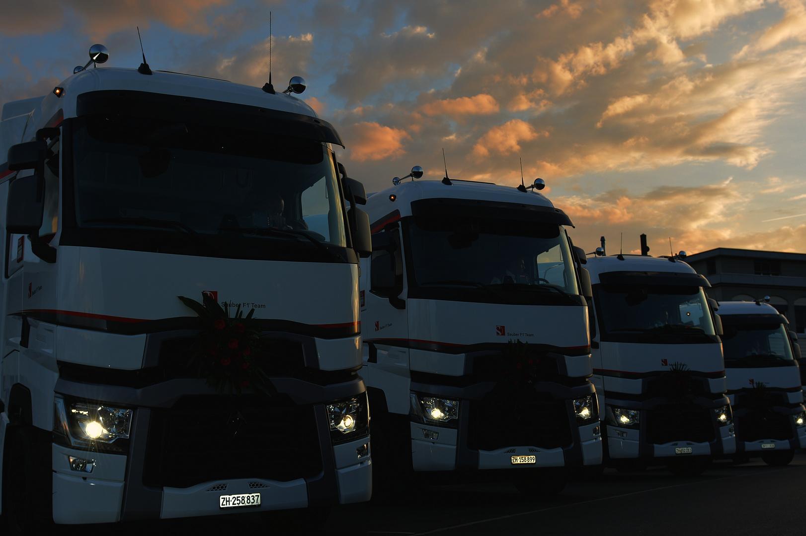Sauber F1 Team 4 neue Trucks