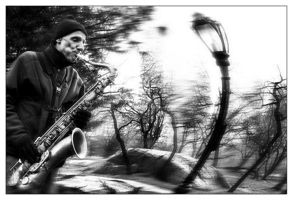 Sax im Central-Park