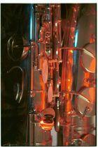 Saxophon in rot