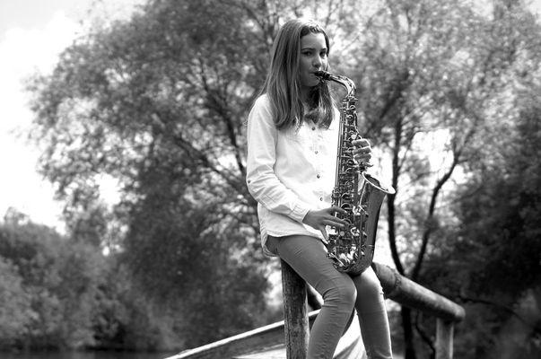 Saxophone dans la nature