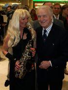 Saxophonist und Trapattoni in München
