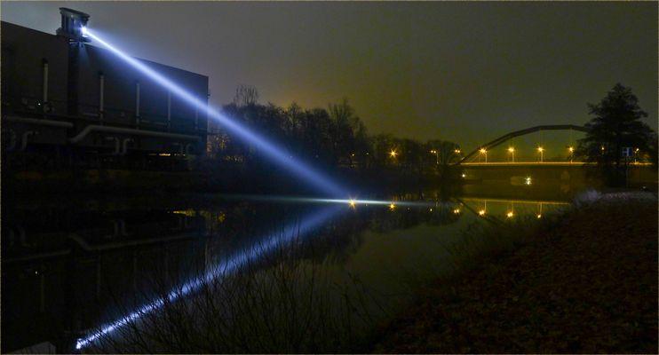 SB-Ostspange bei Nacht