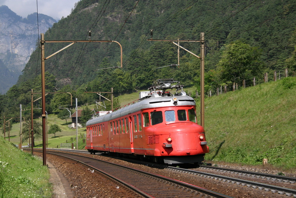 "SBB Historic RAe 4/8 ""Churchill-Pfeil"" bei Erstfeld"