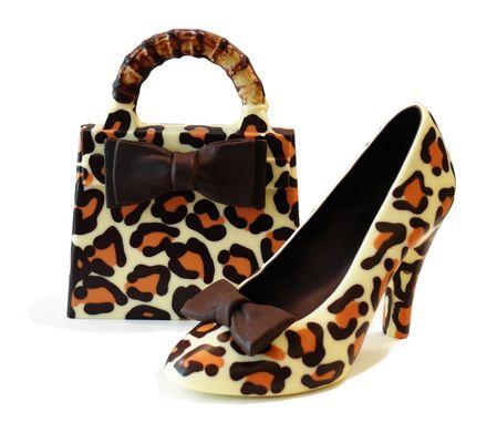 scarpa e borsa di cioccolato - Leopardo