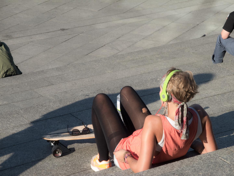 Scateboard-Pause