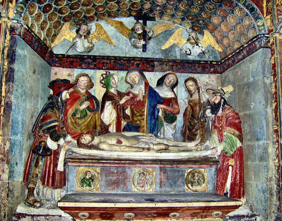 SCENE  DE  L'ENSEVELISSEMENT  DU  CHRIST