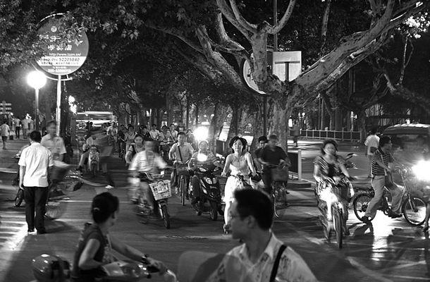 Scène de rue à Nankin