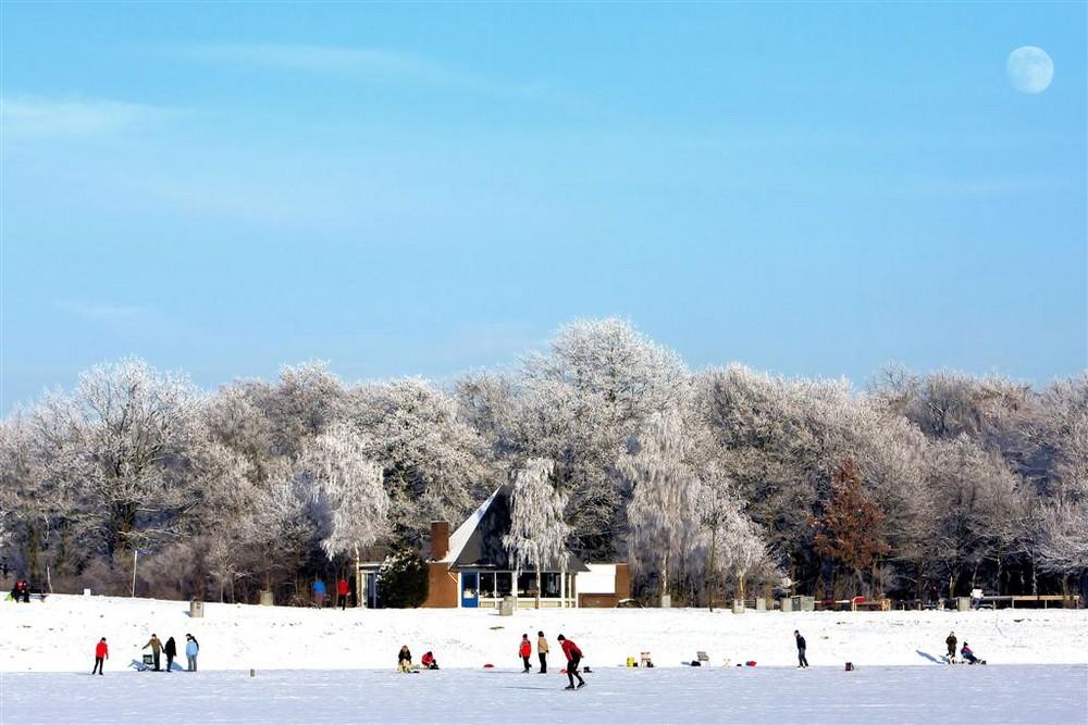 schaatsen, Winterswijk , hilgelomeer , hilgelo , Winter
