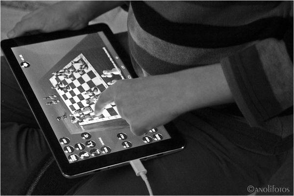 Schach-Knopf