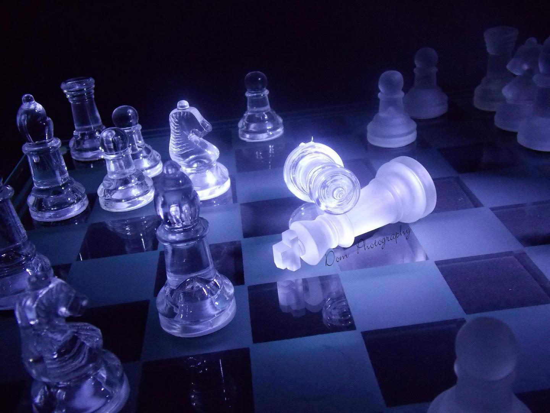 Schachbrett am Leuchten