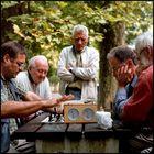 Schachspieler in Budapest