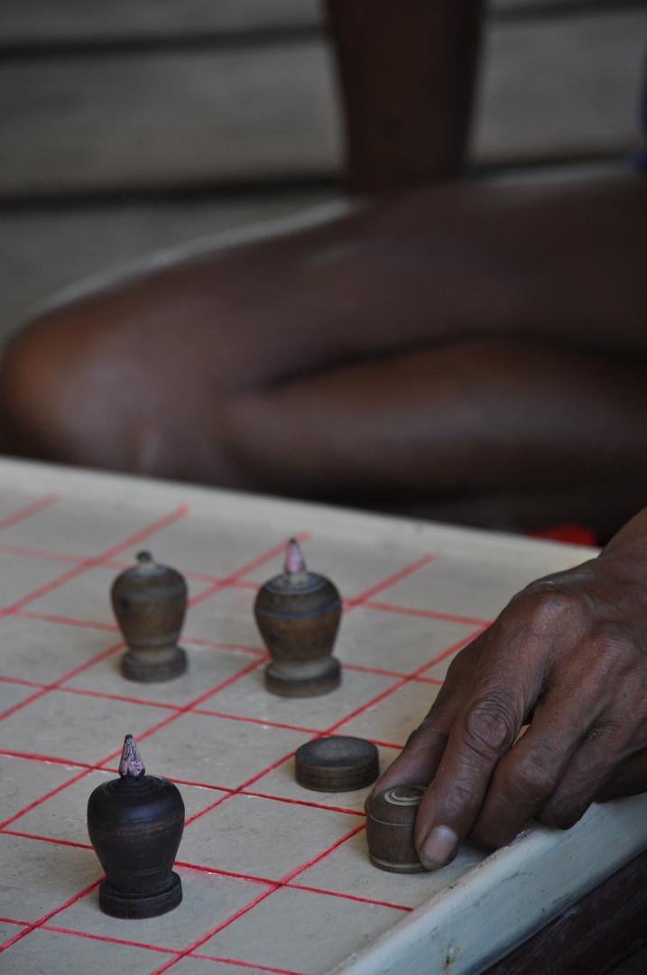 Schachspieler in Kambodscha