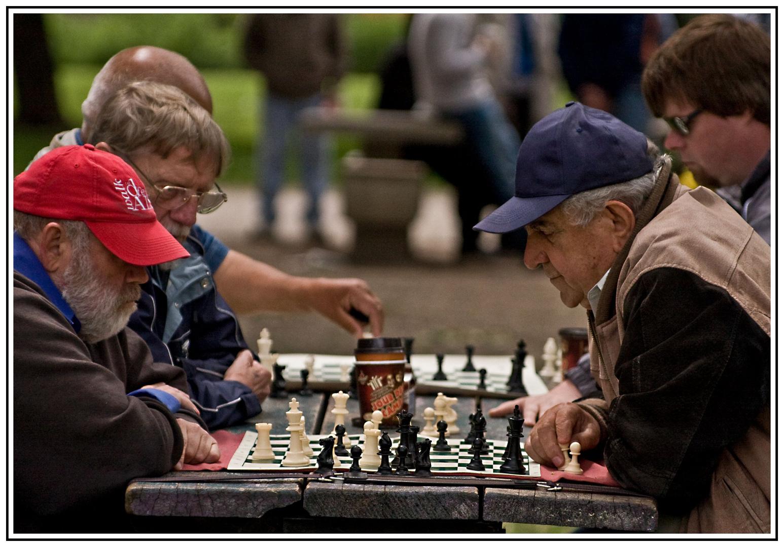 Schachspieler in Toronto