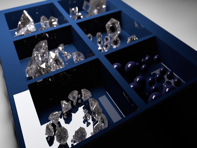 Schachtel Diamanten