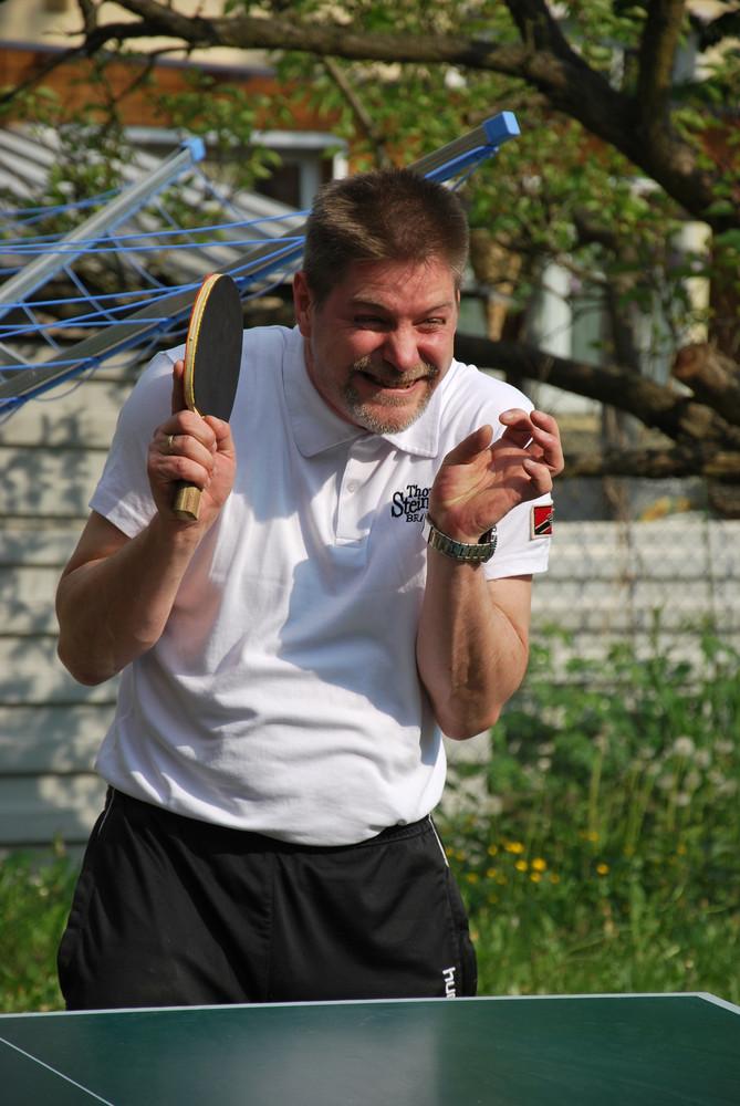 Schadenfreude beim Tischtennis !
