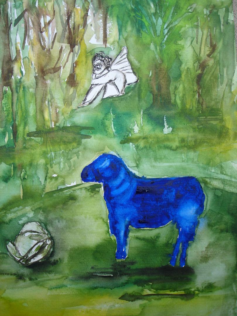 Schaf, Frosch und Engel