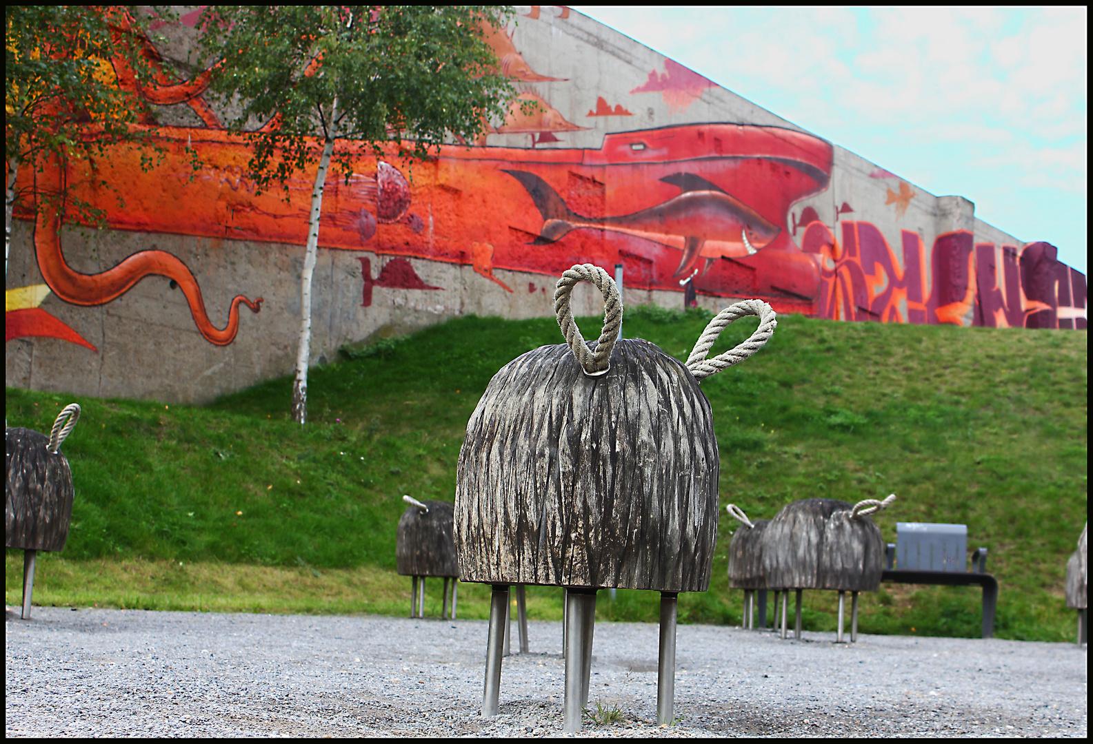 Schafe im Rheinpark (Duisburg)