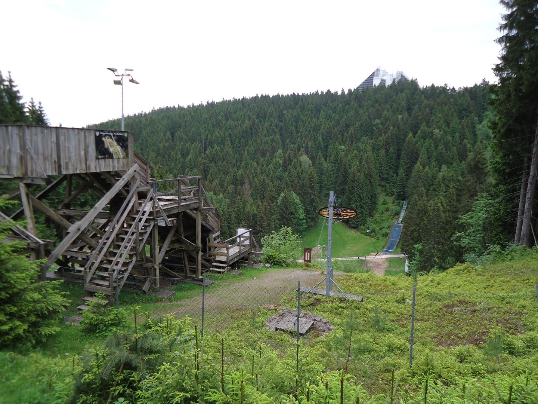 Schanzenanlage im Thüringer Wald