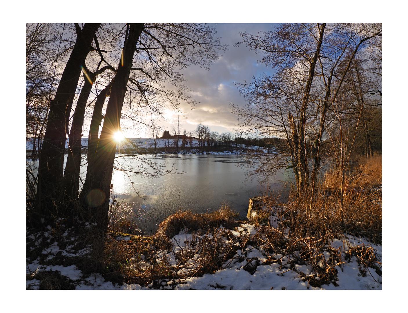 Schanzlweiher Winter