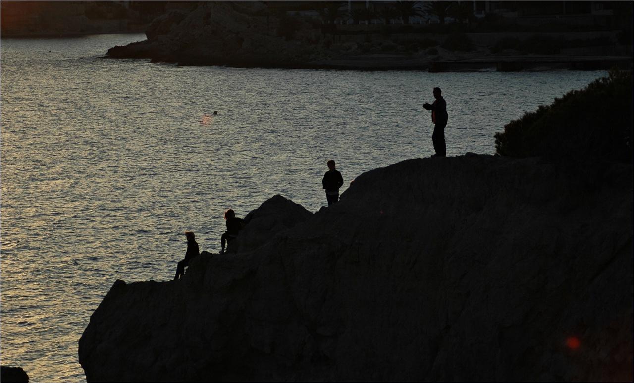 Schatten am Abend