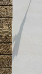 Schatten auf der Aussenwand von Radgonski grad
