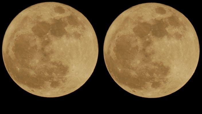 Schatten über dem Mond
