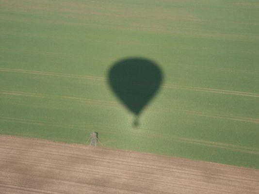 Schattenbild des Ballon