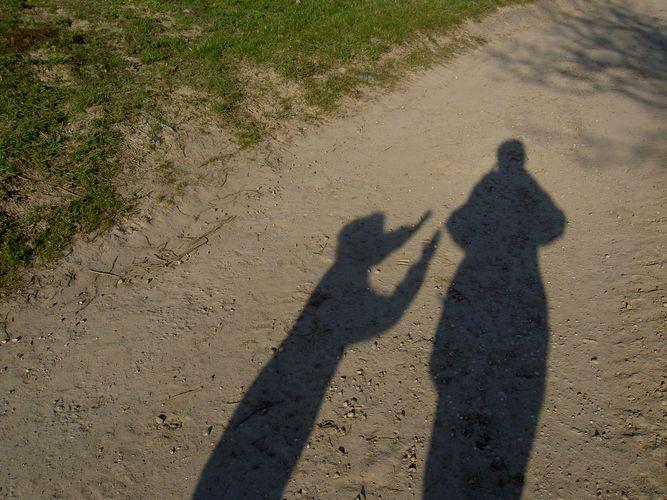 Schattenexperimente auf Ausflug
