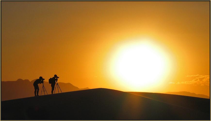 Schattenfotografen in White Sands