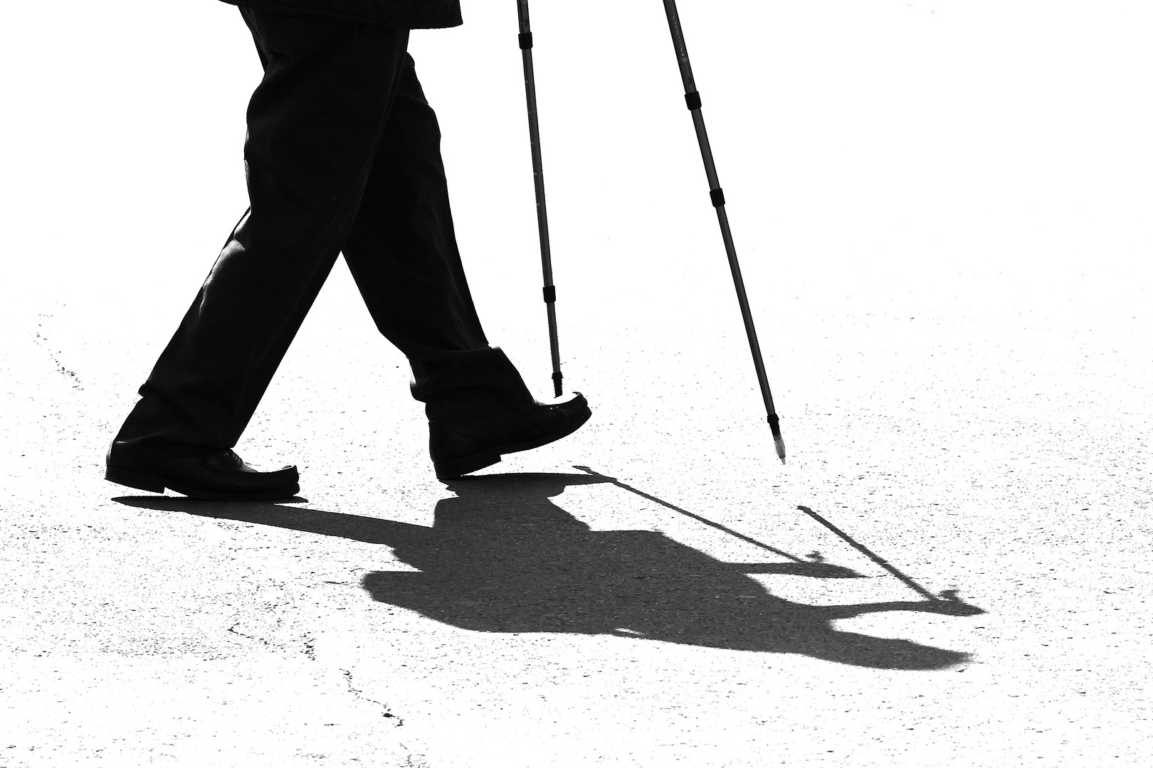 Schattenseite des Nordic Walking