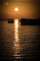 Schattenspiel Abends am Meer