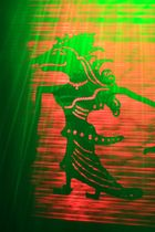 Schattenspiel - tibetanische Tänzerin