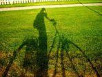 schattiges Fahrrad