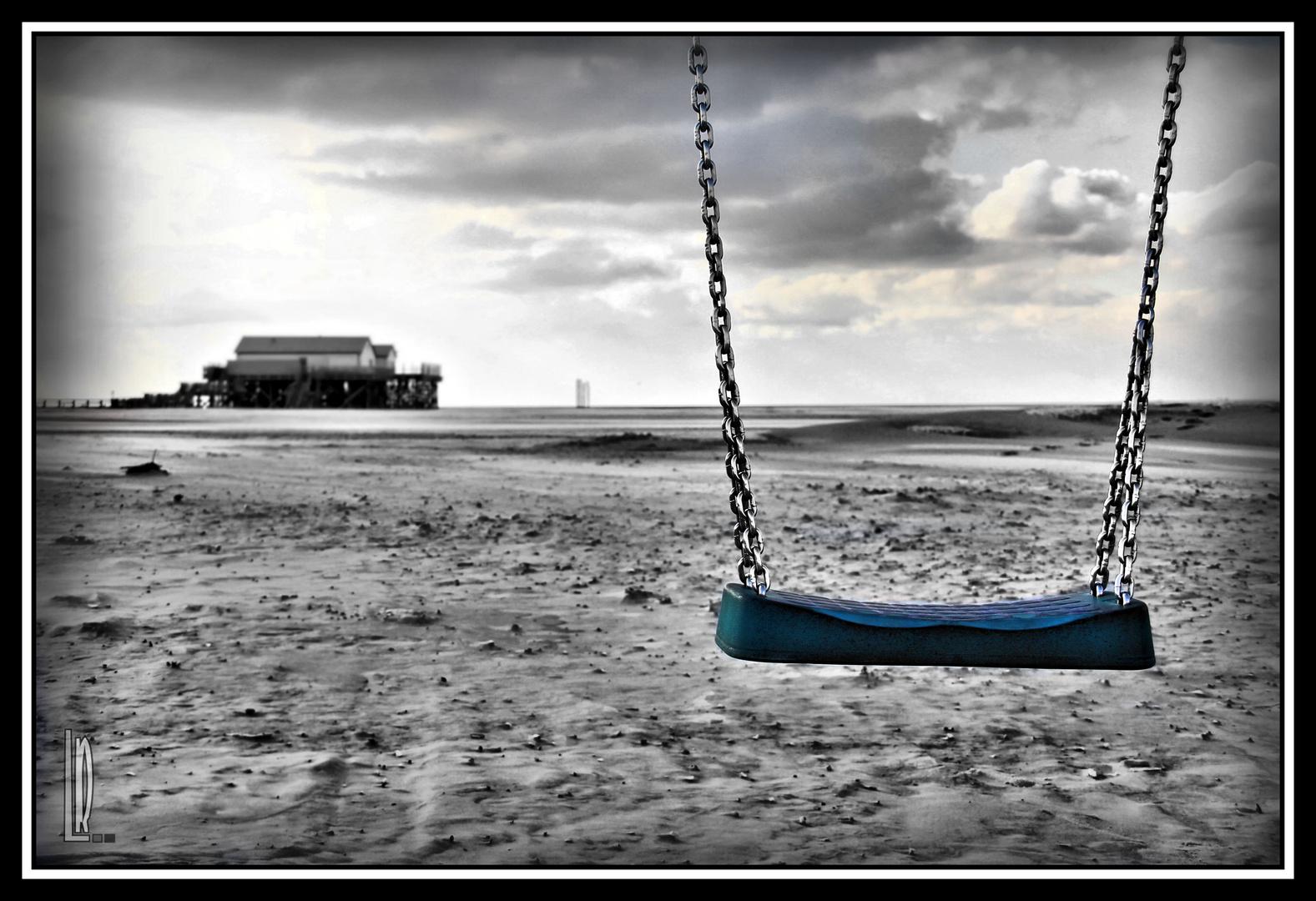 Schaukel am Strand.
