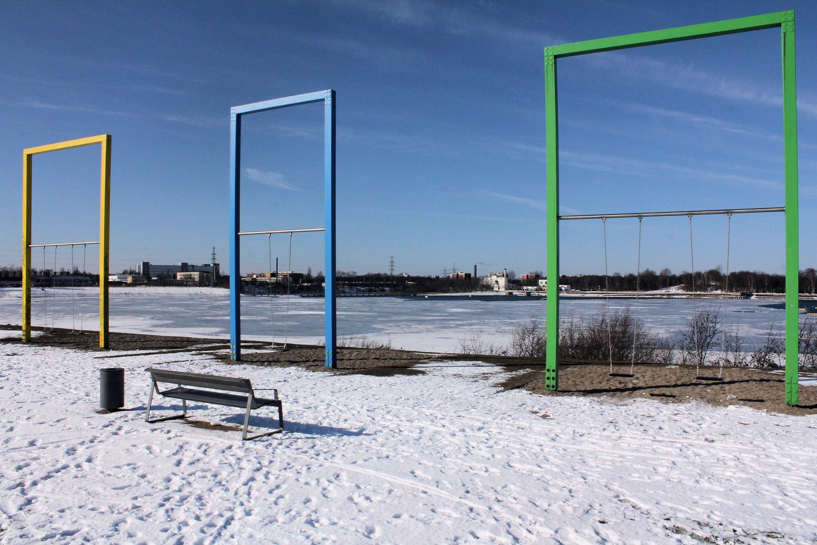 Schaukeln am Norderstedter Stadtparksee