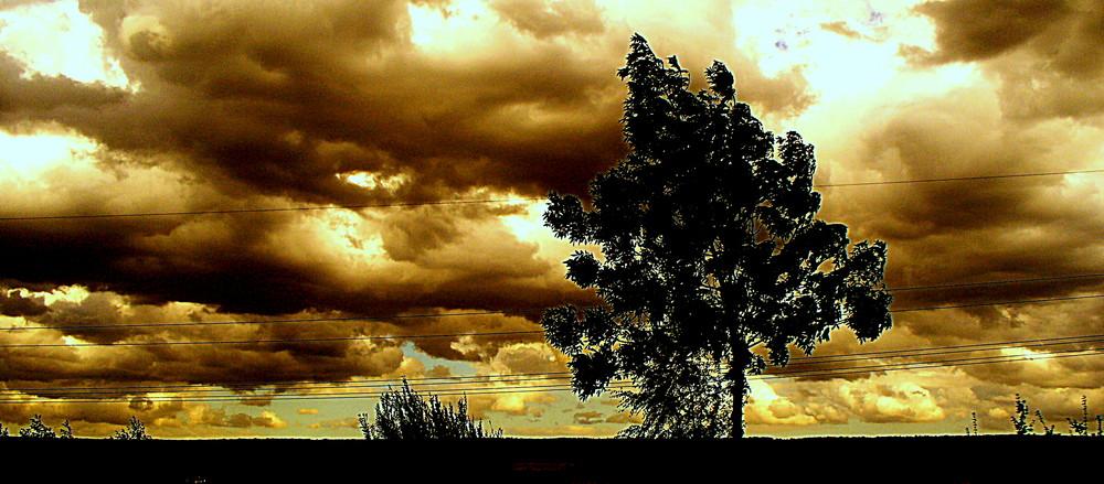 Schauriger Himmel