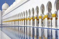 Scheich-Zayid-Moschee Spiegelungen