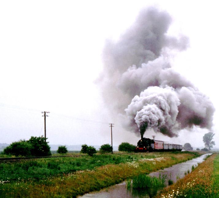 Scheinanfahrt eines Zuges mit Lok Baureihe 38
